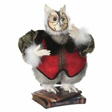 "MTX52053 18"" Standing Wise Owl Professor on Book Base Figure Doll Teacher"