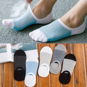 5 Pairs Socks  Loafer Boat  Invisible No Show Nonslip Low Cut Sport Casual Men