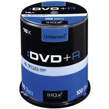 Intenso DVD+R 100er Spindel 4,7GB 16x Geschwindigkeit DVD-Rohlinge 4111156 NEU