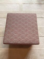 Ben Whistler Upholstered Textured Fabric Foot Stool
