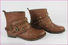 Bottines Boots STUDIO TMLS Cuir Marron T 41 TBE