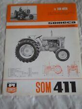 VINTAGE Tracteur brochure SOMECA SOM 411 1964