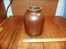Vintage Brown Stoneware Jar                                                    !