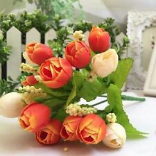 15 Bouquet Artificial Rose Fake Silk Flowers Home Wedding Parties Decor Latest