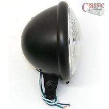 "Motorcycle Bates Style 5-3/4"" Black Bottom Mount Head Light Chopper Bobber Cafe"