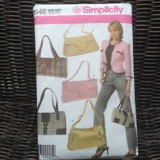 Sewing Pattern for 5 styles of purses/ bags UNCUT Simplicity Pattern 4646