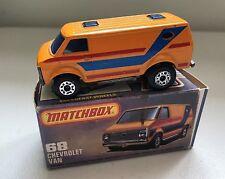 "MATCHBOX LESNEY 1979 SUPERFAST #68 ""CHEVROLET VAN""    k"