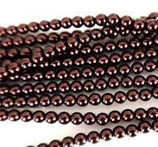 Bronce marrón 4mm Cuentas checas de VIDRIO PERLADO de Pulido Redonda X 25