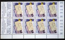 Liechtenstein 1991 MNH** LIBA '92 Block of 8 corner of sheet