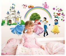 Disney Princess Prince Castle Wall Decals Removable Sticker Kids Nursery Decor