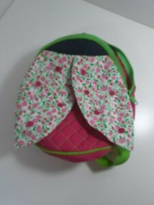 Lilly Pulitzer Backpack pink/green with flower wings small