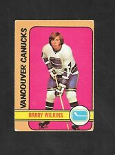 1972-73  OPC HOCKEY , # 109 , BARRY WILKINS , VANCOUVER CANUCKS