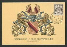 FRANCE MK 1945 WAPPEN STRASBOURG BLAZON MAXIMUMKARTE CARTE MAXIMUM CARD MC d4532