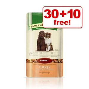 James Wellbeloved Hypoallergenic Adult Puppy Senior Lamb Turkey Rice 40x150g