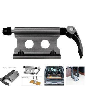 1X Black CNC Car Roof Bike Rack Quick-release Fork Installation Mount Holder