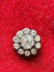 ANTIQUE GEORGIAN SILVER & DIAMOND PASTE PENDANT RARE COLLECTIBLE 1820S