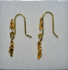 Handmade Hook Gold Fine Earrings