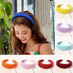 Women Thick Padded Wide Headband Sponge Hairband Girls Hair Hoop Wedding Party