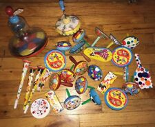 Lot of Vintage Party Noise Makers New Year's Eve Lithograph Tin Toys Clowns 🤡