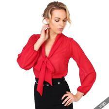 Camisas y tops de mujer blusa de color principal rojo talla 36