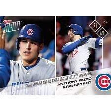 2017 TOPPS NOW #69 ANTHONY RIZZO/KRIS BRYANT GAME TYING HR AND GO-AHEAD SAC FLY