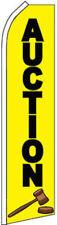 """AUCTION"" super flag swooper banner advertising sign"