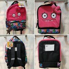 "Ugly Dolls 16"" Halfway Gorgeous Kids Backpack & Pink Ugly Dual Compart Lunchbox"