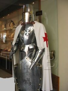 War Templar Medieval Knight Suit Of Armor Combat Full Body Armour Stand Sword