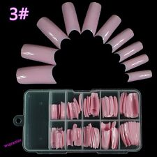 100 PCS False Acrylic Gel French Nail Art Half Tips Salon 10 Size 22 Colors