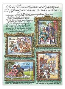 French Antarctic Terr 2003 Mezieres Illustrations Paintings Stamp Mini Sheet MUH