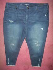 efeedcad2de Lane Bryant 28 Regular Super Stretch SKINNY Ankle Distressed Jeans Power  Pockets
