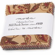 """10 Collections Mill Book 1889 Mini 2.5"""" Charm Packs by Howard Marcus for Moda"""