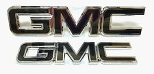 Custom Black Chrome Front Grille Rear Tailgate Emblems Fit 2015-2019 GMC Sierra