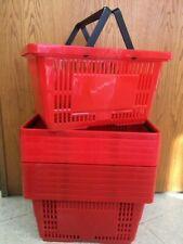 "Shopping Baskets ""Jumbo Size"" Set Of 12 Red"