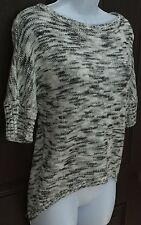 Eyelash Couture Multi-Color Hi-Low Sweater SZ XS Stretchy Short Sleeve Crew Neck