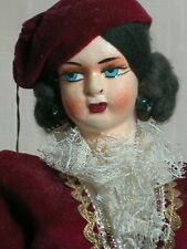 """Vintage International Greek Lady Doll   Beautifully Dressed  Great Condition 14"""""""