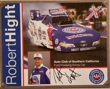 """2005 Signed Robert Hight """"Rookie"""" Handout NHRA John Force Racing"""
