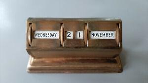 Vintage Art Deco Style Perpetual Desk Calendar