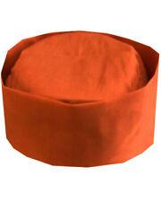 Orange Color chef skull hat, restaurant chef hat, kitchen chef hat, chef hat New