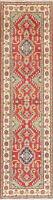 Oriental Kazak Wool Runner Rug Hand-Knotted Geometric Carpet 3x10 NEW