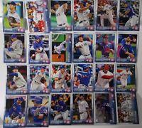 2015 Topps Series 1 & 2 Texas Rangers Team Set of 24 Baseball Cards
