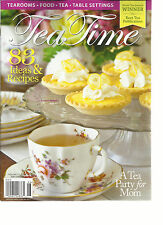 TEA TIME, MAY / JUNE, 2015   83 IDEAS & RECIPE ( TEAROOMS * TEA * TABLE SETTINGS