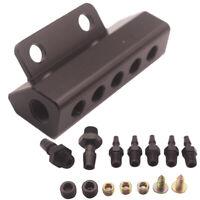 5 Port VACUUM Block Intake Manifold Fuel Gas Wastegate Turbo Boost Black