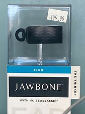 """Jawbone Icon """"The Thinker"""" with Noise Assassin Bluetooth Headset New"""