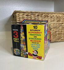 Melissa & Doug 12782 Deluxe 10-Piece Alphabet Nesting and Stacking Blocks