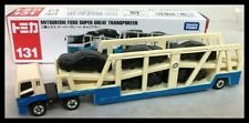 TOMICA #131 Mitsubishi FUSO SUPER GREAT TRANSPORTER TOMY Diecast Long Car