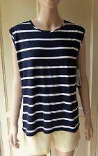 American Apparel Compact Jersey Muscle Tank Top (Naval Stripe)