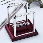 Steel Newton's Balance Ball Cradle Physics Science Pendulum Desk Fun Toy Gift LJ