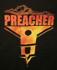 AMC Networks Preacher TV Show Black Upside Down Church T-Shirt NOS New Lg Womens