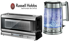Russell Hobbs Glass Line Kettle and Toaster Set Glass Kettle & Long-Slot Toaster